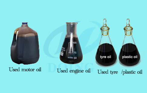 Vacuum distillation of used oil unit